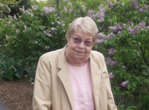 Marion Plass in Lilicia Park, Lombard, May 5, 2004